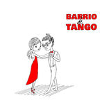 Tango couple poster Stock Images