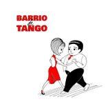 Tango couple poster Stock Photography