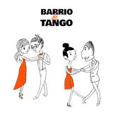 Tango couple poster Royalty Free Stock Images