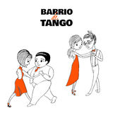 Tango couple poster Royalty Free Stock Photography