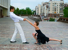 Tango da dança dos pares Foto de Stock Royalty Free