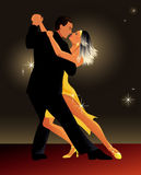 Tango da dança dos pares Foto de Stock