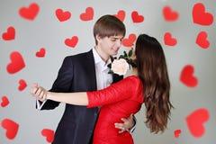 Tango da dança dos pares Imagens de Stock Royalty Free