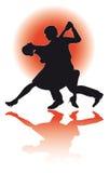 Tango da dança dos pares/eps Imagens de Stock Royalty Free