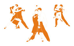 Tango Dance. Several couples are dancing tango Royalty Free Stock Photo