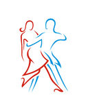 Tango dance abstract 1 business insurance abstract Royalty Free Stock Images