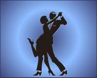 Tango dance couple. Silhouette illustration of a couple dancing vector illustration