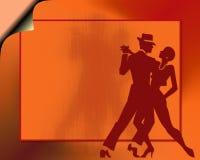 Tango dance couple. Silhouette illustration of a couple dancing royalty free illustration