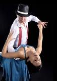 Tango dance. Couple dancing hot latin dance studio royalty free stock images