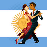 Tango Dance. Couple Performing an Argentines Tango Dance Stock Photo