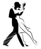 Tango Dance : Design of young couple dancing tango. Stock Image
