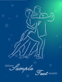 The tango dance. Illustration - silhouettes of people who dance tango Stock Photos