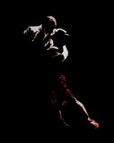 Tango dance of passion. The stylized image of dancers who perform tango Royalty Free Stock Photo