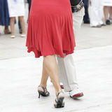 Tango dance. Street dancers performing tango dance Royalty Free Stock Images