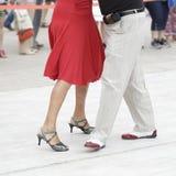 Tango dance. Street dancers performing tango dance Stock Images