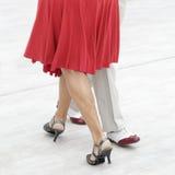 Tango dance. Street dancers performing tango dance Stock Image