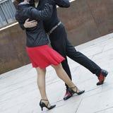 Tango dance. Street dancers performing tango dance Royalty Free Stock Image