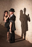 Tango Dancer with Leg On Partner Stock Photo