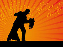 Tango dancer vector background Royalty Free Stock Photos