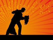 Tango dancer vector background Royalty Free Stock Photos