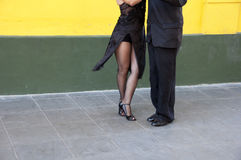 Tango dancers. Street dancers performing tango dance in Buenos Aires - Argentina stock images