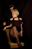Tango dancers royalty free stock image
