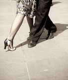 Tango dancers Royalty Free Stock Image