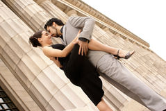 Tango dancers. Couple tango dancing  in Buenos Aires, Argentina Stock Photography