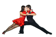 Tango dancers in action Royalty Free Stock Images