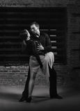Tango dancers in action Stock Images
