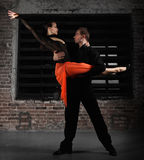 Tango dancers in action Stock Image
