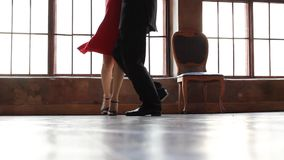 Tango dancers foot stock video footage