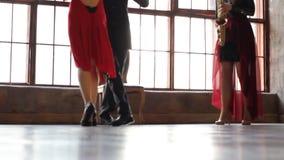 Tango dancers foot stock video