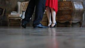 Tango dancers foot stock video footage