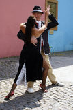 Tango dancers in La Boca Stock Photos