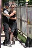 Tango Dancers in La Boca Stock Photos