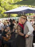 Tango dancers performs in San Telmo Stock Images