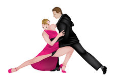 Tango dancers 2 Royalty Free Stock Image