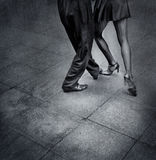 Tango dancers. In the street of Buenos Aires city royalty free stock photo