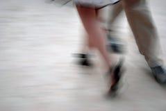 Tango dancing. Tango dancers in action: detail of footwork Royalty Free Stock Image