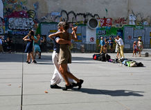 Tango dancing Paris Royalty Free Stock Images
