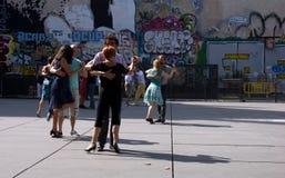Tango dancing Paris royalty free stock photography