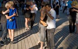 Tango dancing Paris Stock Images