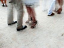 Tango dancing. Teamwork on the dancefloor Stock Photos