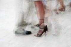 Tango dancing. Teamwork on the dancefloor Royalty Free Stock Image