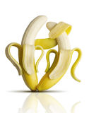 Tango das bananas Fotos de Stock Royalty Free