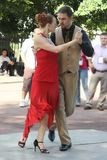 tango de 3 danseurs de couples Photo stock