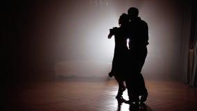 Tango de danse de couples dans le brouillard clips vidéos