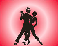 tango de danse de couples Photo libre de droits
