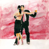 Tango de gouache Images libres de droits